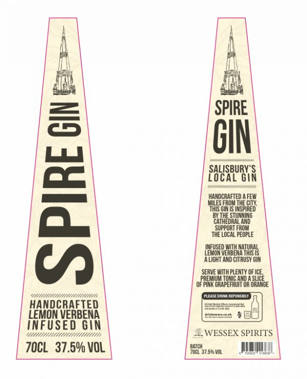 New look Spire Gin labels