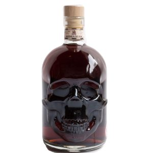 Dark Resting Place Rum in a skull shaped bottle
