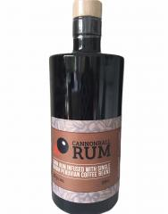 Cannonball rum in a black glass bottle